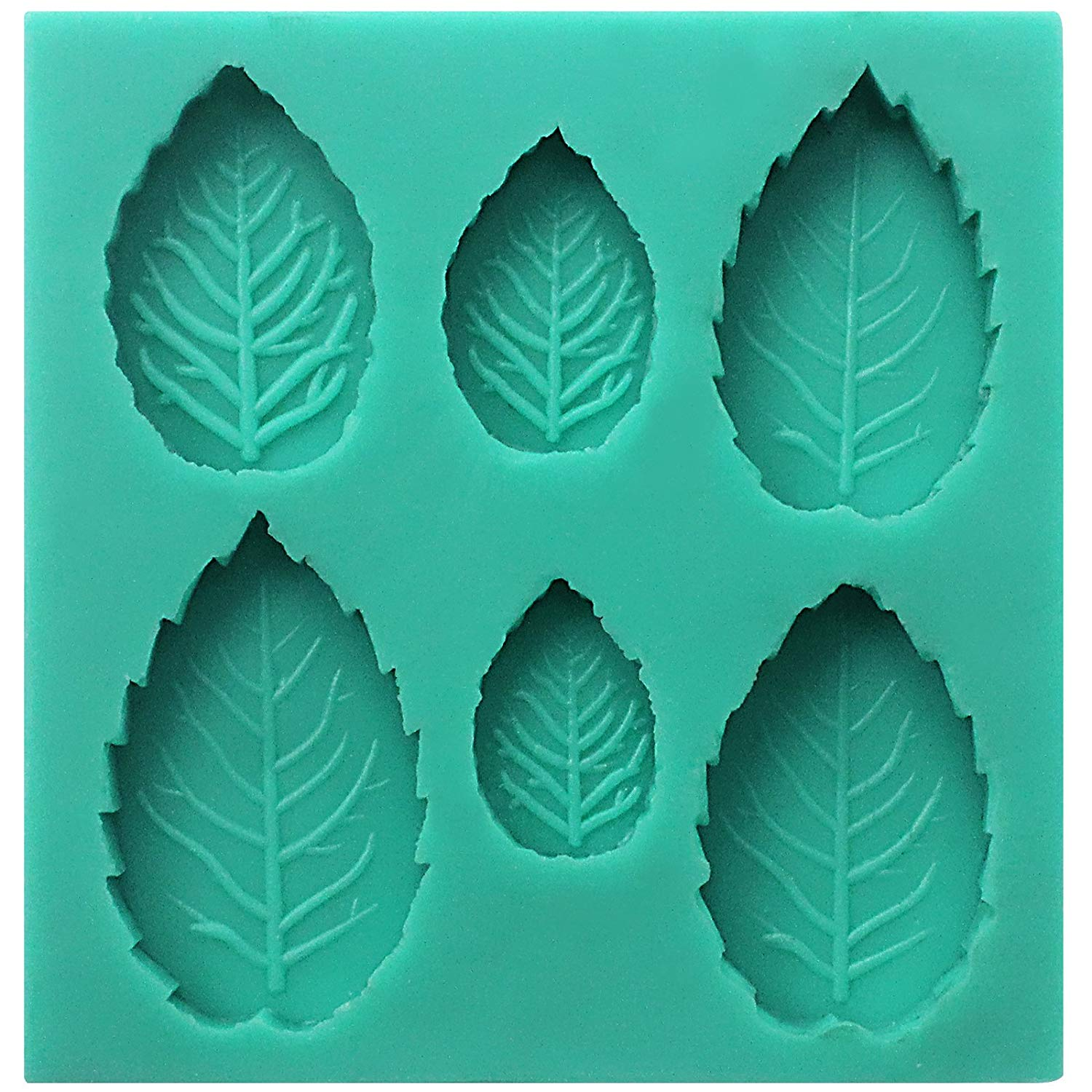 Assorted Rose Leaf Fondant Silicone Mold