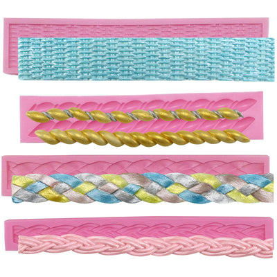 Assorted Rope Fondant Silicone Mold Set