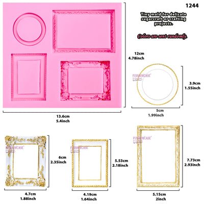 Eleglant Frame Border Molds 3-Count