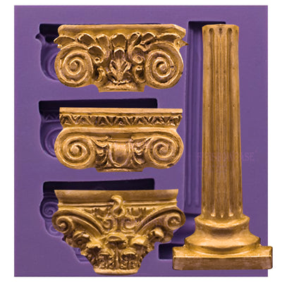 Greek Pillars Fondant Silicone Mold