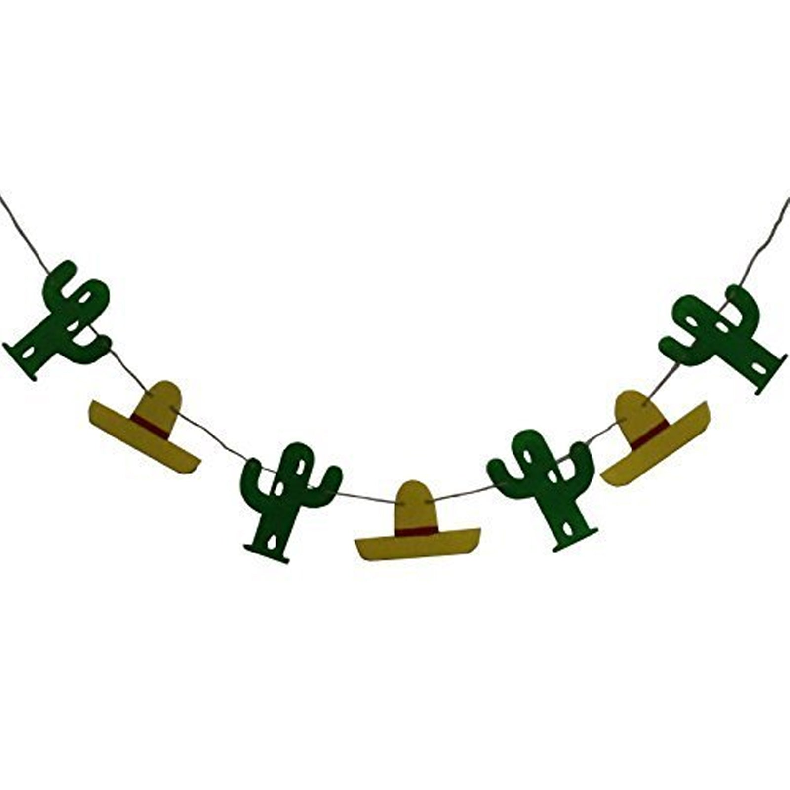 Wild West Cactus Cowboy Hat Fabric Banner
