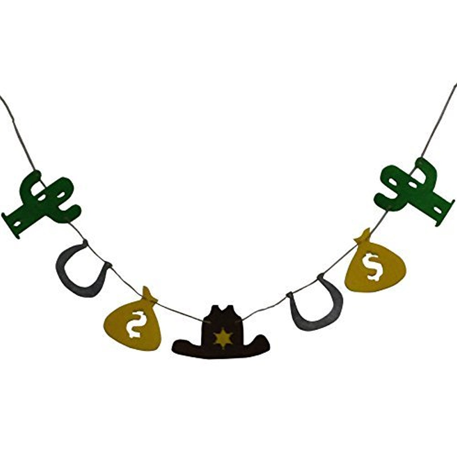 Cowboy Cop Loot Money Sack Fabric Garland Banner