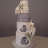 Edible Cake Lace Rose Scallop Ivory White Total 11.8 feet