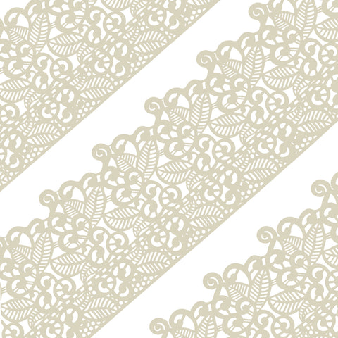 Edible Cake Lace Leaf Scroll Ivory White Total 11.8 feet