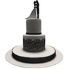Edible Cake Lace Rose Scallop Black Total 11.8 feet