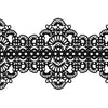 Edible Cake Lace Applique Black Total 11.8 feet Width 3.5inch