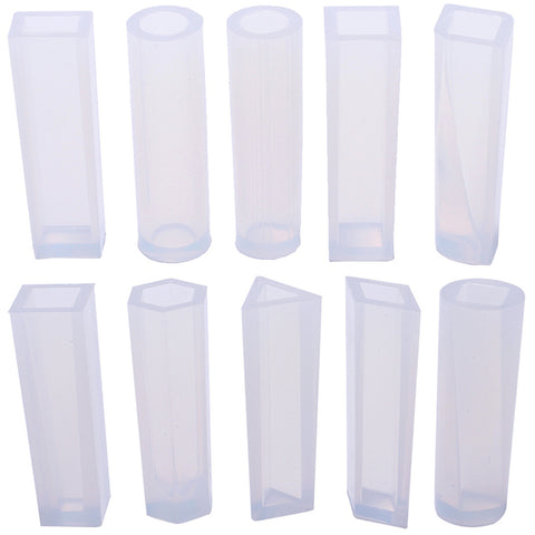 Cylinder Crystal Quartz Wands Resin Silicone Molds 10-Count