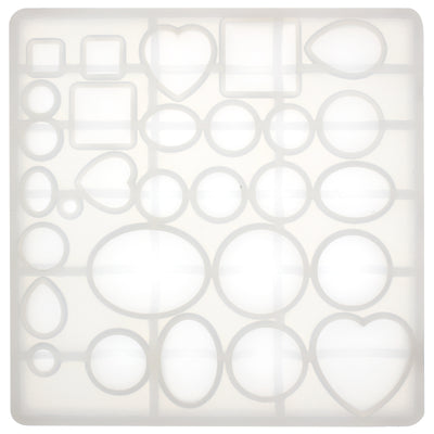 Cabochon Resin Silicone Mold 15x14.8x1.5cm
