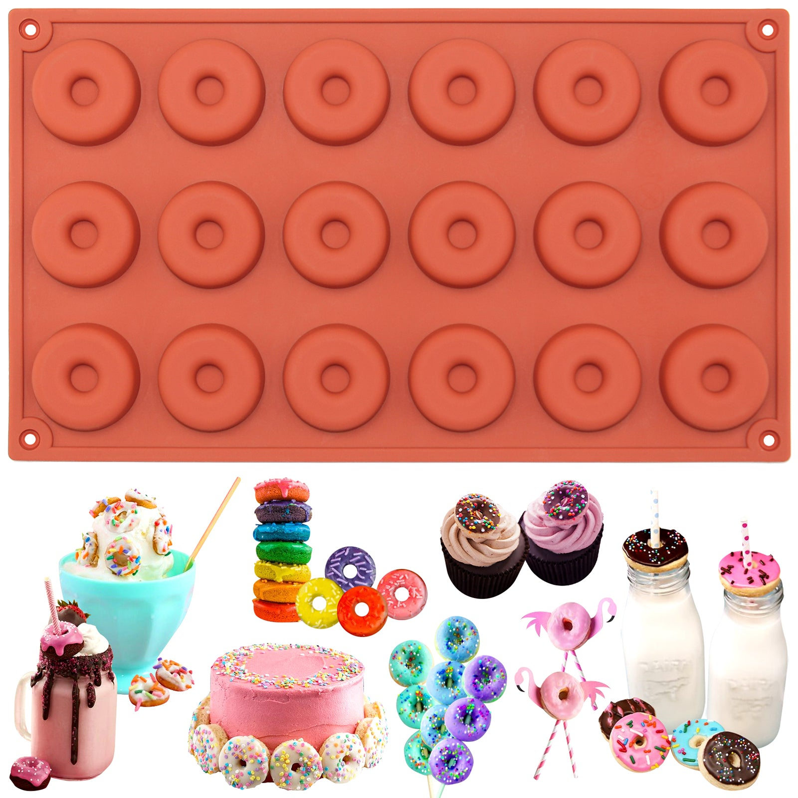 Mini Donut Silicone Mold 18-Cavity
