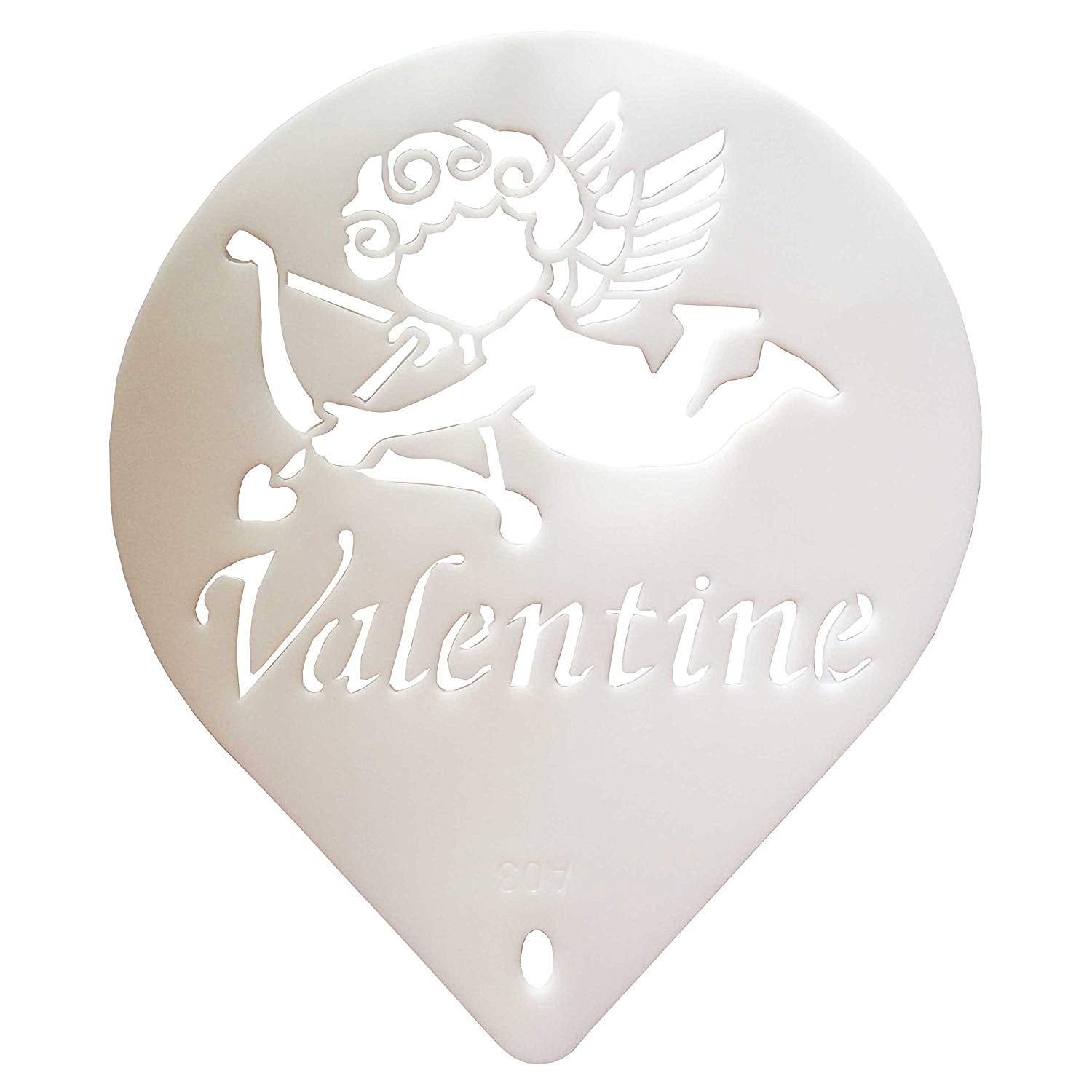 Emboss Cupid Valentine Cake Decor Stencil Sheet