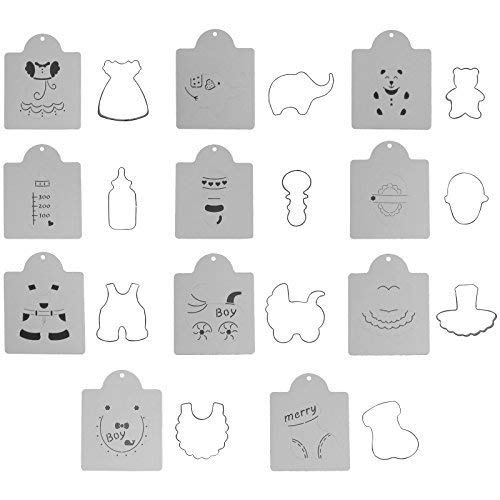 Cookie Cutters with Stencil for Baby Shower Children Birthday 22-count