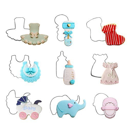 Cookie Cutters for Baby Shower Children Birthday 11-count