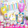 Rainbow Unicorn Party Decoration Supplies Kit 90-in-set