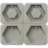 Hexagon Soap Making Silicone Mold with Hole