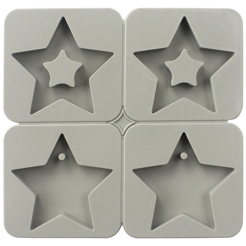 Star Soap Making Silicone Mold with Hole
