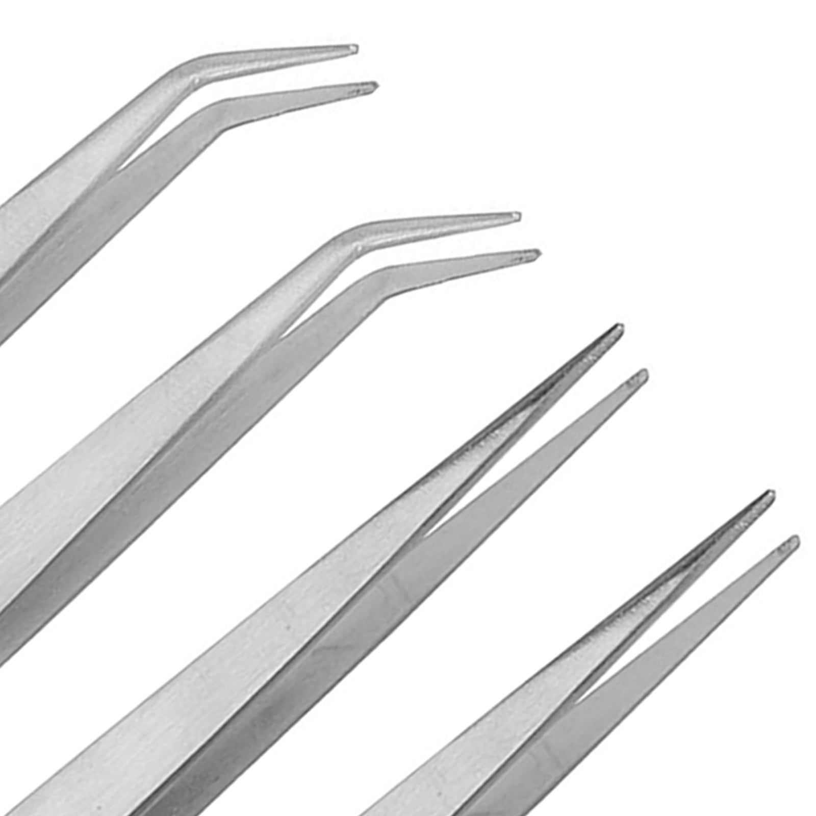 Straight and Curved Bent Tweezers for Resin Jewelry Casting 4-count