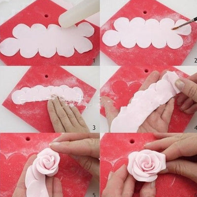Peony Rose Flower Fondant Cutters 6-count