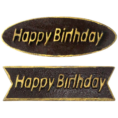 Happy Birthday Plaques Chocolate Plastic Mold