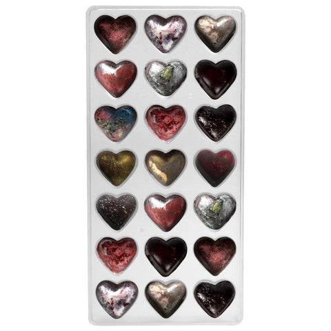 Hearts Chocolate Plastic Mold Bite Size 21 Cavity