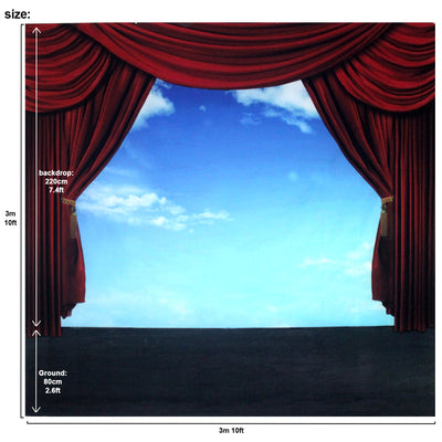 Musical Setting Stage Sky Backdrop Large 10x10 feet