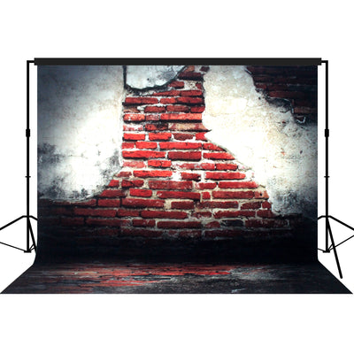 Vintage Red Brick Wall Backdrop Large 10x10feet