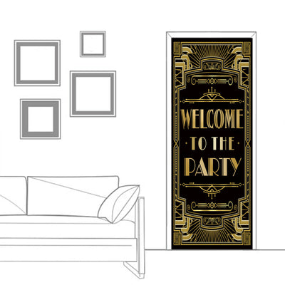 Roaring 20s Gatsby Door Cover|Welcome to the Party|72x30inch