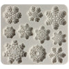 Magical Snowflakes Lace Enhance Pattern Silicone Mold