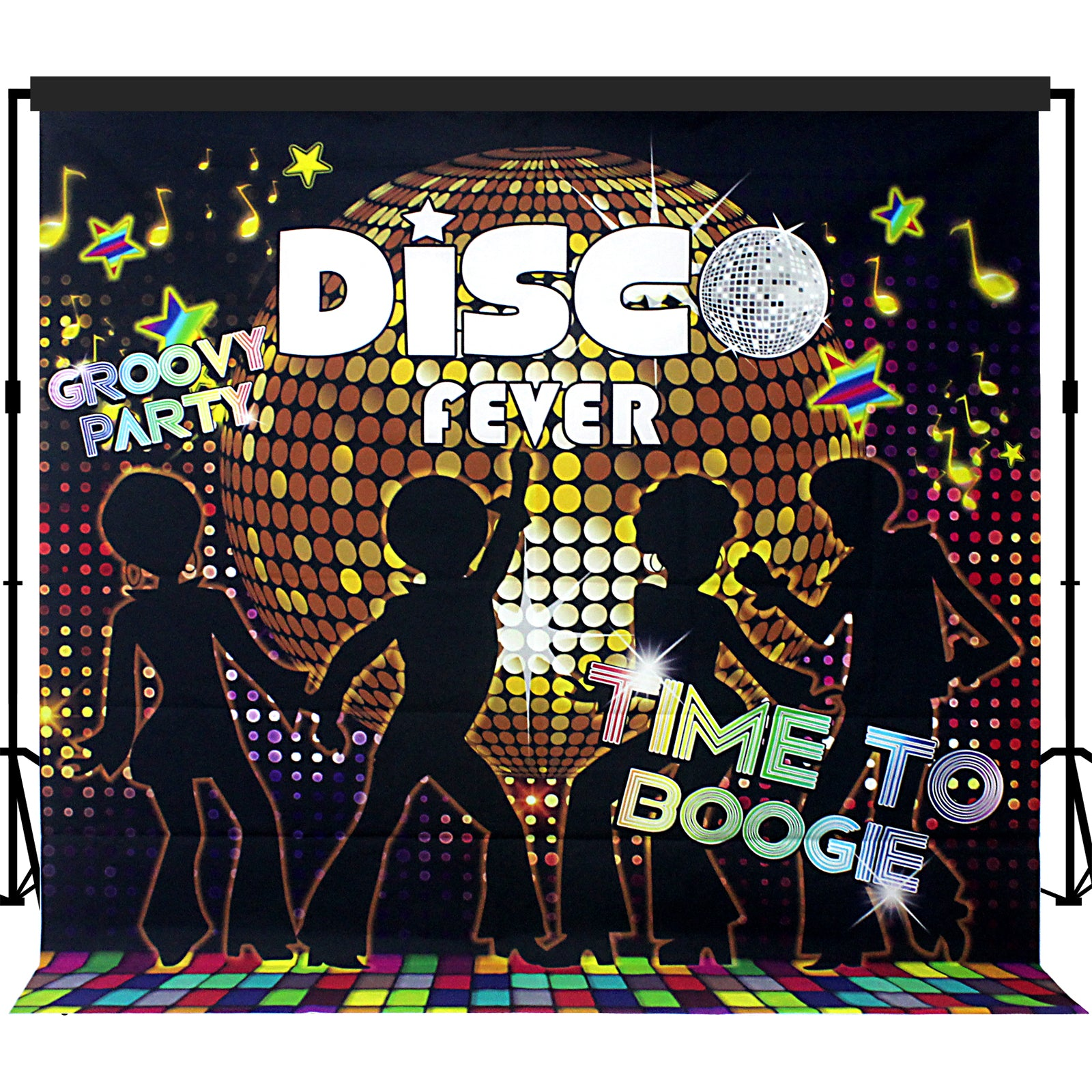 Disco Party Backdrop 7x7 feet