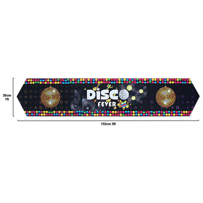 Disco Party Table Runner with Pointed Ends 60x12inch