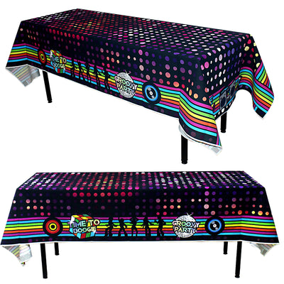 Disco Party Tablecloth 108x54inch