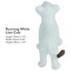Running White Lion Cub Figure Height 1.6-inch
