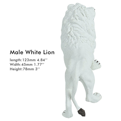 Male White Lion Figure Height 3.1-inch