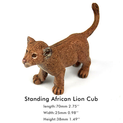 Standing Lion Cub Figure Height 1.6-inch