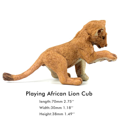 Playing Lion Cub Figure Height 1.8-inch
