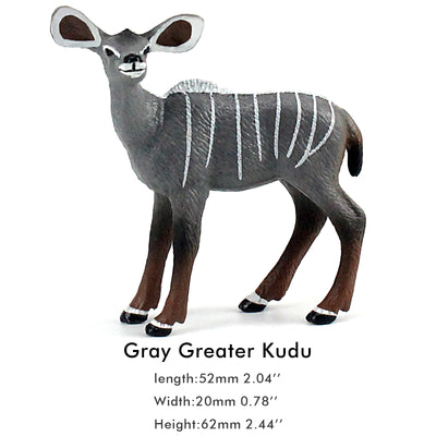 Gray Lesser Kudu Female Figure Height 2.6-inch