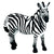 Male Zebra Stallion Figure Height 3.5-inch