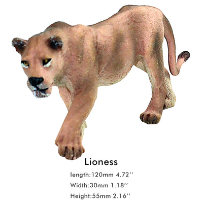 Walking Lioness Figure Height 2.2-inch