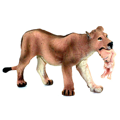 Lioness Carries Her Cub in Her Mouth Figure Height 2.5-inch