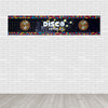 Disco Party Table Runner Rectangle 60x12inch