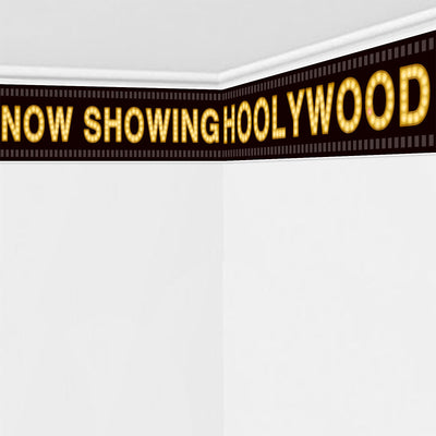 Hollywood Prepasted Filmstrip Movie Night Party Wall Mural 59.8x11.8inch