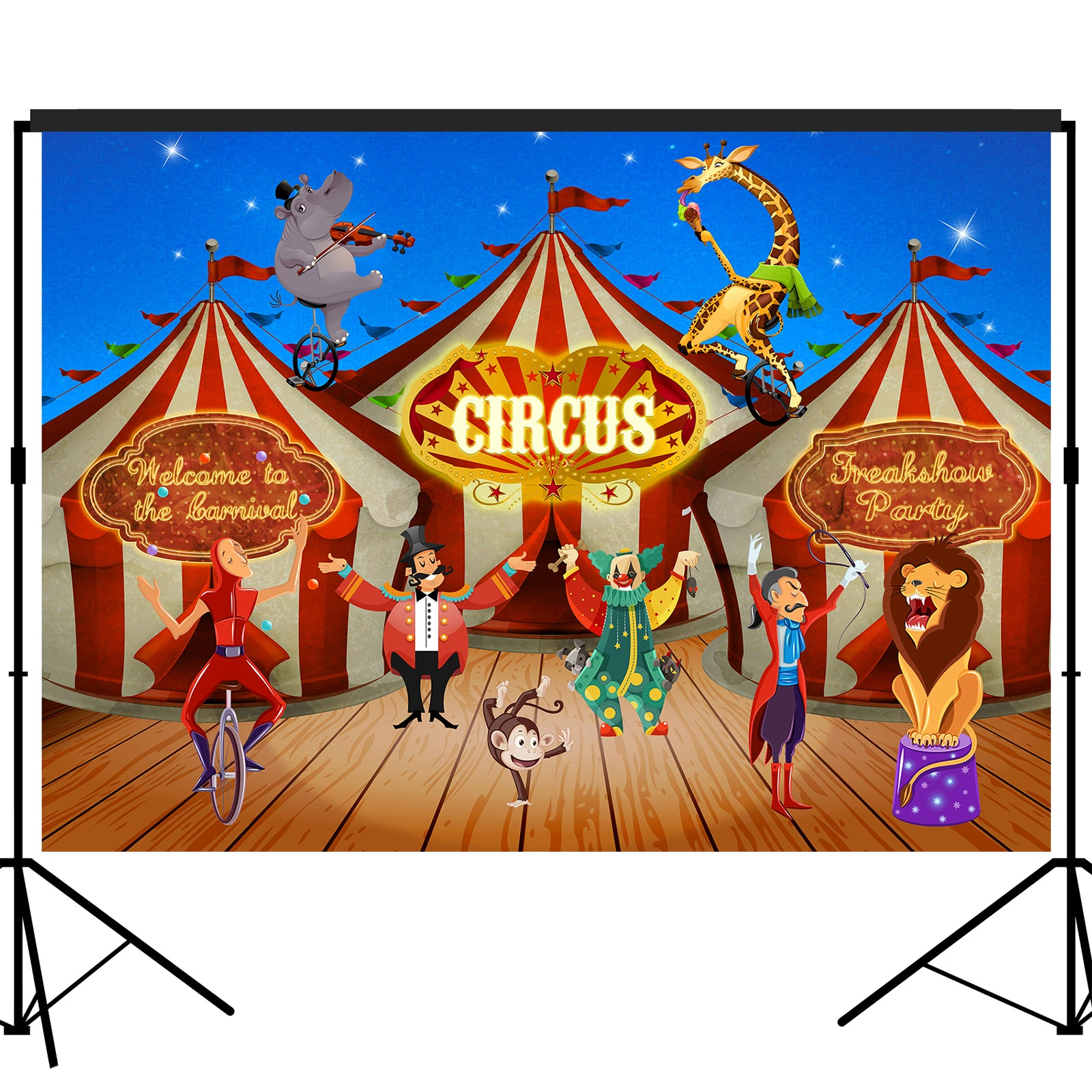 Carnival Circus Backdrop 5x7feet