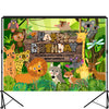 Forest Animal Happy Birthday Backdrop 7x5 feet