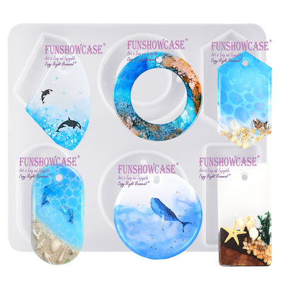 Pendant Resin Silicone Mold with Hole