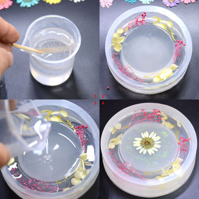 Ashtray Resin Silicone Mold 6.3inch Flower
