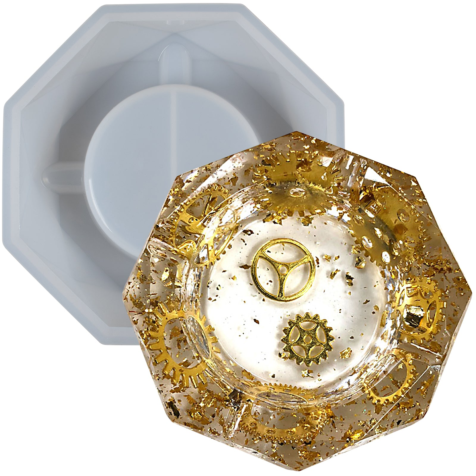 Ashtray Resin Silicone Mold 6.3inch Octagon