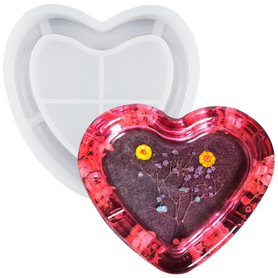 Ashtray Resin Silicone Mold 6.3inch Heart