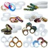 Ring Silicone Mold Set for UV Resin Epoxy Liquid Clay Jewelry Making