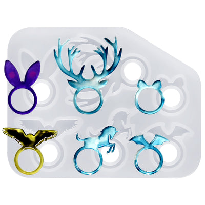 Kawaii Animal Stacking Ring Silicone Mold 17mm