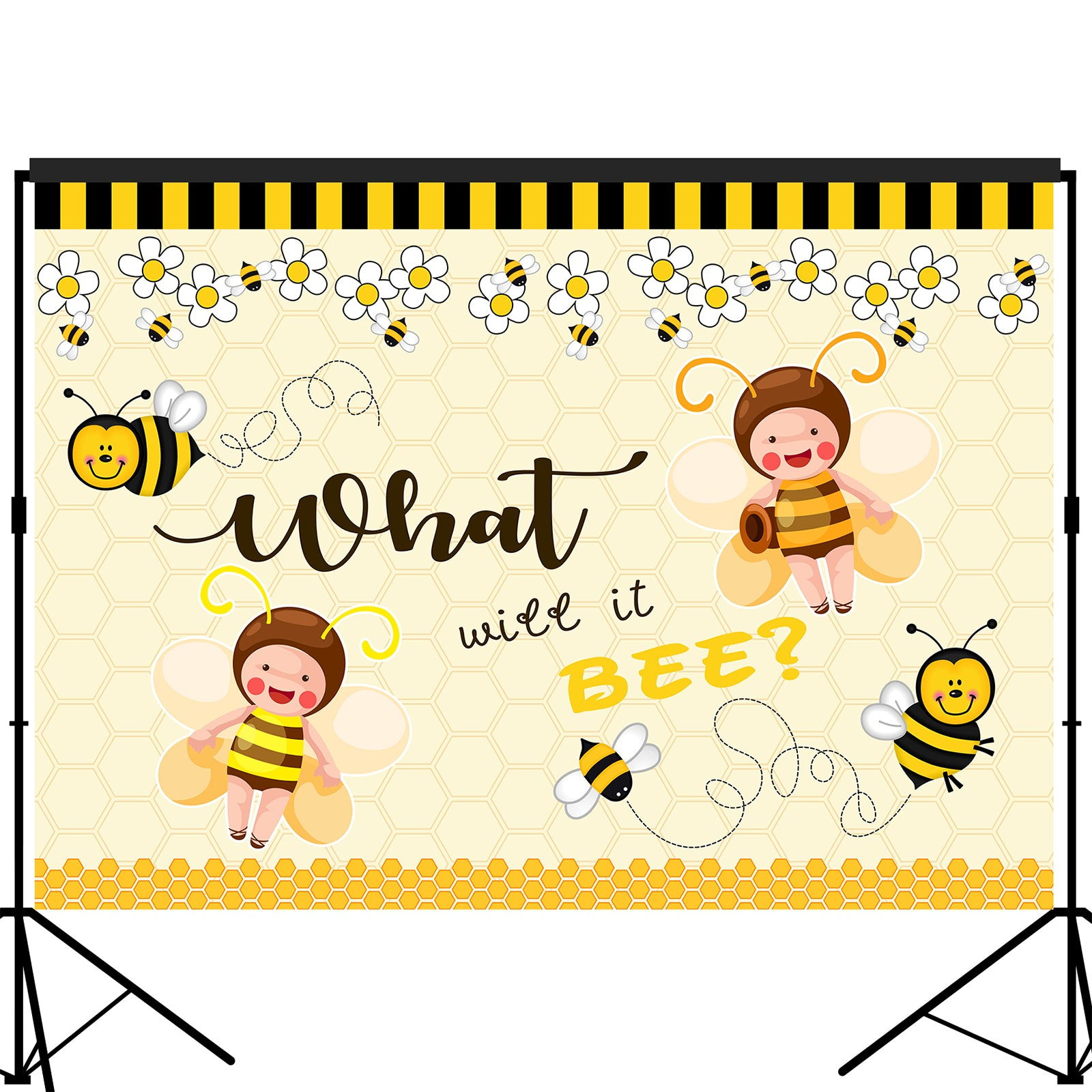 What will It Bee Backdrop Baby Shower|Gender Reveal 7x5 feet