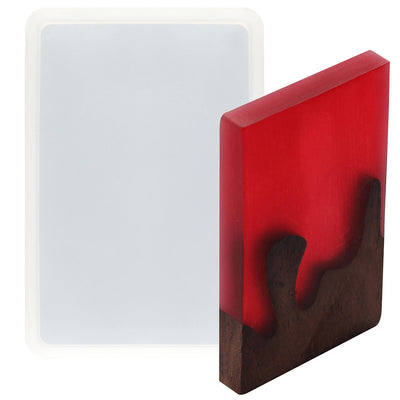 Rectangle Coaster Resin Silicone Mold 5x4inch